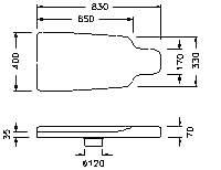 """M622″ SHAPE FOR FINISHING LEG"