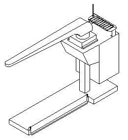 """M132097/1″ TAVOLO APRICUCITURA PANTALONE CON FORMA F24 cm.135x60x40 d.120"