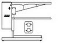 """""""M300MH98″ TAVOLO piano MAXI cm. 135x50x27 ASPIRANTE,SOFFIANTE,REGOLABILE, TRIFASE 400V"""