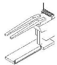 """""""M131097/1″ TAVOLO APRICUCITURA PANTALONE CON DUE FORME F8 cm. 114x80x60 d.77"""