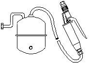 """M4012″ NEBULIZER OF WATER WITH SUPPORT ARM"
